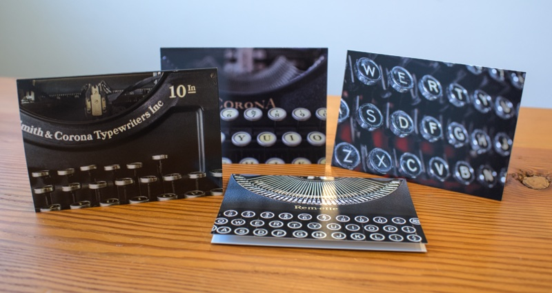 Boxed set typewriter notecards